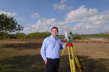 land surveying expert witness Tony in the Field